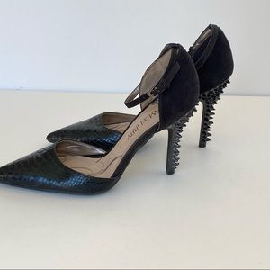 Sam & Libby Faux Leather Pointed Toe Spiked Heel